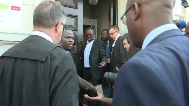 journalists and opposition gather outside zimbabwe's top court as an appeal seeking to overturn the presidential election result begins - zimbabwe stock videos & royalty-free footage
