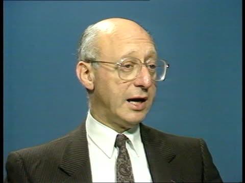reaction; gerald kaufman mp interview sof - gerald kaufman stock videos & royalty-free footage