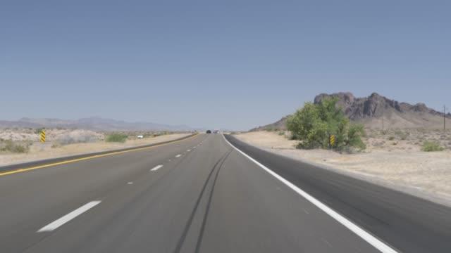 journey on highway 93 to kingman, arizona, united states of america, north america - kingman arizona stock videos & royalty-free footage