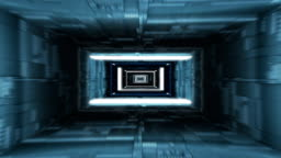 Journey through digital tunnel. Loopable