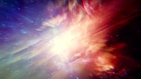 vídeos y material grabado en eventos de stock de viaje a través de la galaxia. multi color imagen - fondo colorido