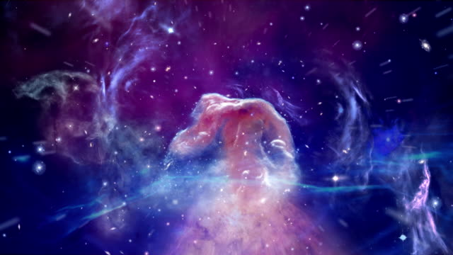 journey through horsehead nebula - futuristico video stock e b–roll