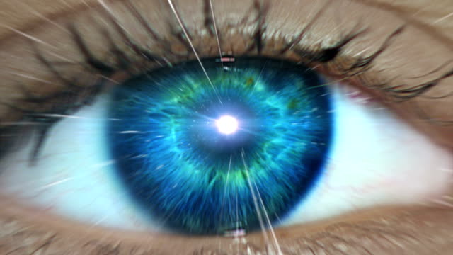 journey through mind. big bang and milky way - eye stock videos & royalty-free footage