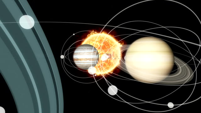 journey through the solar system - solar system stock videos & royalty-free footage