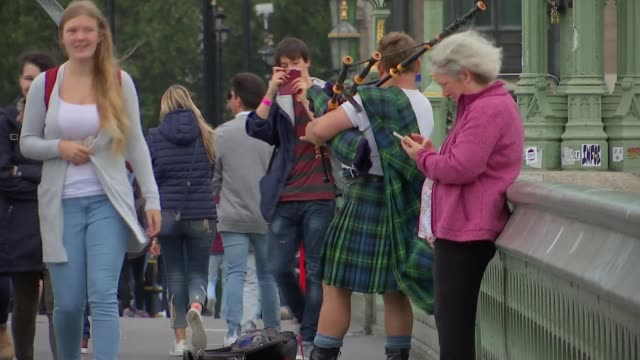 maya's story; england: london: uxbridge: brunel university london: maya ghazal interview sot. westminster: ext bagpipe player on westminster bridge... - mayan stock videos & royalty-free footage