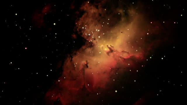 journey to the eagle nebula, m16 - nebula stock videos & royalty-free footage