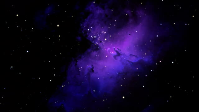 journey to the eagle nebula - nebula stock videos & royalty-free footage