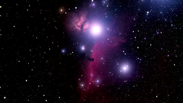 journey to the horsehead nebula - nebula stock videos & royalty-free footage