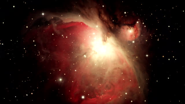 journey to the orion nebula, m42 - nebula stock videos & royalty-free footage