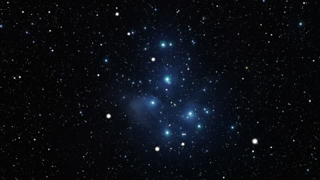 journey to the pleiades open star cluster (m45) - bunch stock videos and b-roll footage