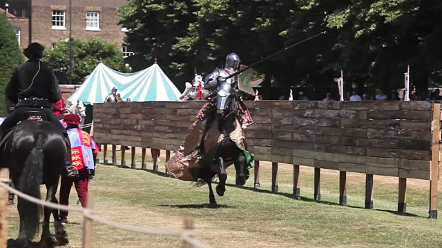 jousting knights in armour - knight person stock videos and b-roll footage