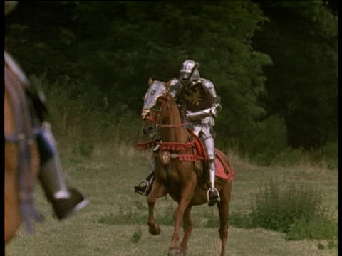 jousting knights - jousting stock videos and b-roll footage