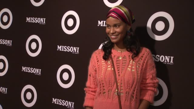 vídeos de stock, filmes e b-roll de joy bryant at the missoni for target private launch event at new york ny - missoni