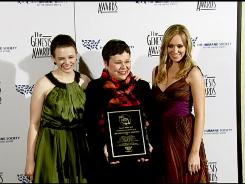 Joy Lauren and Andrea Bowen at the 2008 Genesis Awards at the Beverly Hilton in Beverly Hills California on March 30 2008