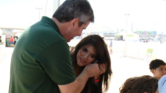 joyce giraud at leapfrog fit made fun day with legendary soccer star mia hamm in los angeles, ca 9/6/14 - leapfrog stock videos & royalty-free footage
