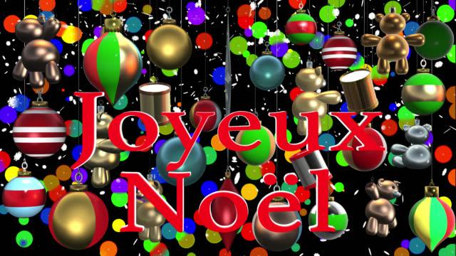vidéos et rushes de joyeux noël voeux français avec les décorations de noël et canal alpha - instrument de musique