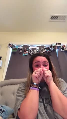 joyful teenage girl reacts to college acceptance letter (audio) - ecstatic stock videos & royalty-free footage
