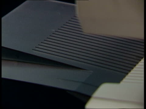 reconstruction joyti at fax machine - fax machine stock videos & royalty-free footage