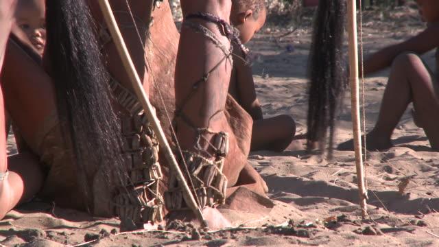 Ju hoansi San Bushmen of Nyae Nyae: dancing feet, Namibia