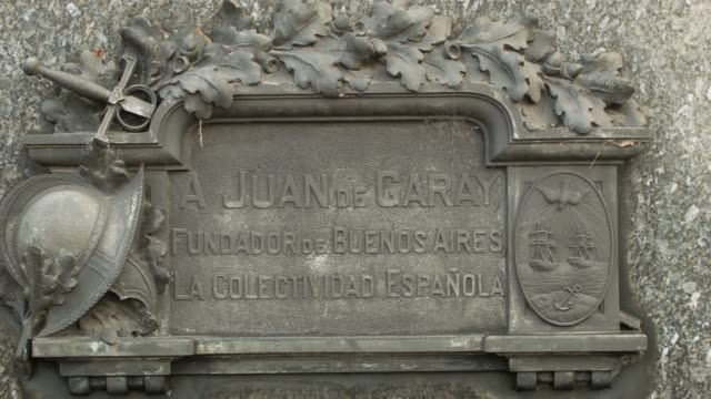CU Juan de Garay statue near Casa Rosada shot on the 29th of July 2014