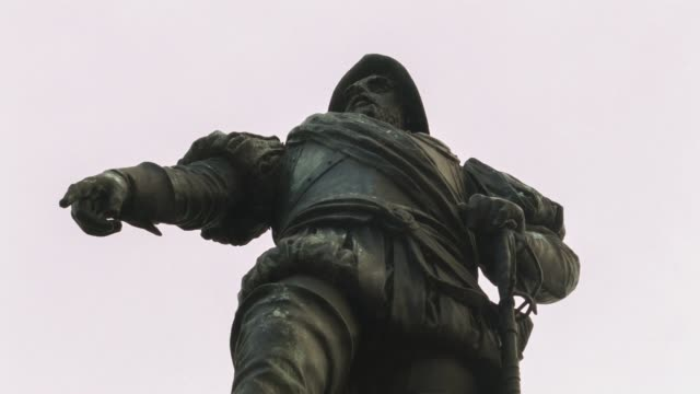 ECU Juan de Garay statue near Casa Rosada shot on the 29th of July 2014