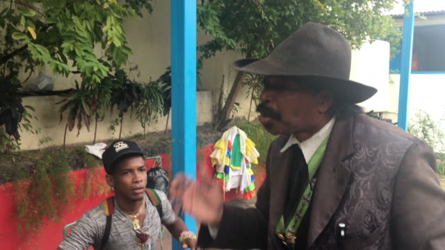 juan manuel villy carbonell is a popular character known as el benny more of santiago de cuba / he claims having recorded the voice of the cuban... - santiago de cuba stock videos and b-roll footage