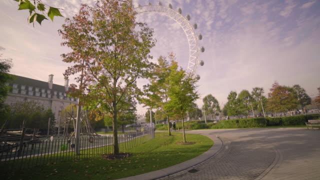 Jubilee Gardens and London Eye Observation Wheel.