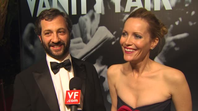 judd apatow and leslie mann at the 2010 vanity fair oscar party hosted by graydon carter at west hollywood ca - graydon carter stock videos and b-roll footage