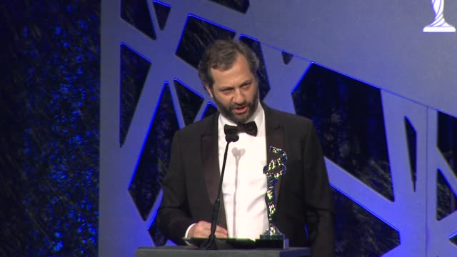 vídeos de stock, filmes e b-roll de speech judd apatow at the 16th costume designers guild awards at the beverly hilton hotel on february 22 2014 in beverly hills california - judd apatow