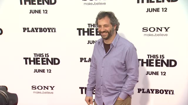 vídeos de stock, filmes e b-roll de judd apatow at this is the end los angeles premiere on 6/3/2013 in westwood ca - judd apatow