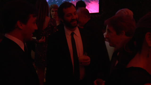 judd apatow martin short at the 2011 vanity fair oscar party inside at hollywood ca - martin short stock videos & royalty-free footage