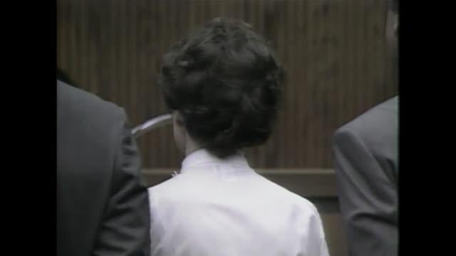 wjw judge announces alice lundgren's guilty verdict and sentences her to 150 years to life in prison on aug 29 1990 in kirtland ohio - cult stock videos & royalty-free footage
