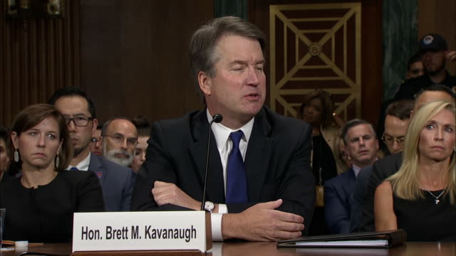 vídeos y material grabado en eventos de stock de judge brett kavanaugh responds to a question from rachel mitchell regarding beer consumption in high school. this took place at the senate hearing... - healthcare and medicine or illness or food and drink or fitness or exercise or wellbeing