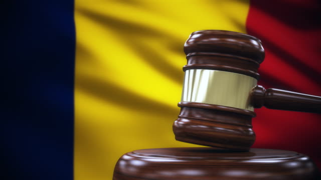 Judge Gavel with Chad Flag Background