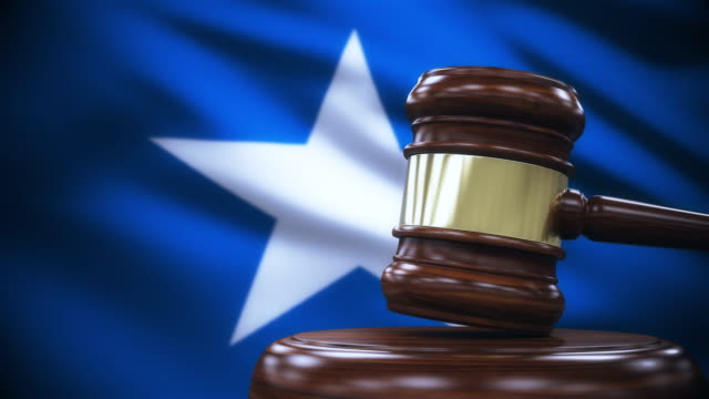 Judge Gavel with Somalia Flag Background