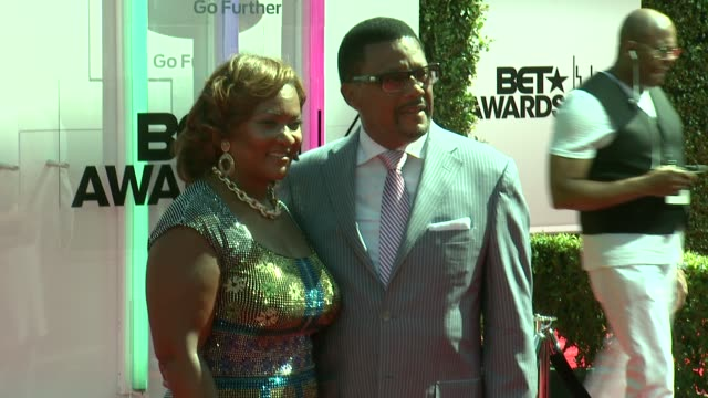 judge greg mathis and linda reese at the 2014 bet awards on june 29 2014 in los angeles california - bet awards stock videos and b-roll footage