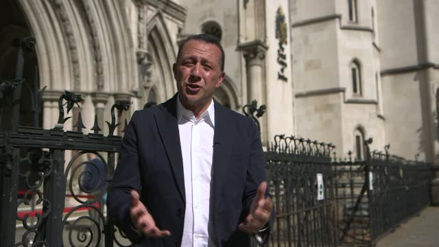 judge halts home office flight to deport asylum seekers england london ext gvs the royal courts of justice reporter to camera sot - channel 4 news stock videos & royalty-free footage