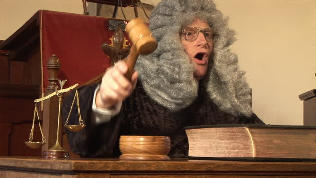 Judge hitting Gavel in  Court  1 - HD & PAL