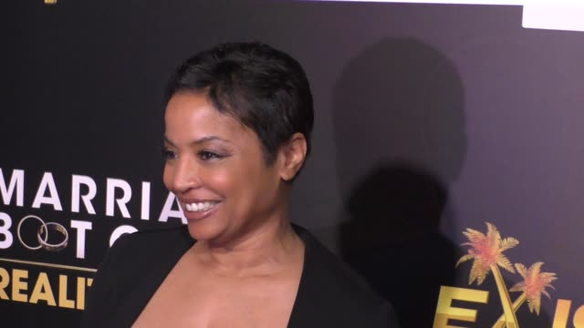 judge lynn toler at the we tv celebrates the premiere of marriage boot camp reality stars and ex-isled at le jardin nightclub in hollywood on... - reality tv stock videos & royalty-free footage