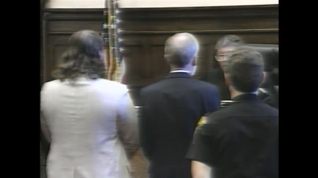 wjw judge martin o parks concurs with the jury's recommendation and sentences jeffrey lundgren to death on sept 21 1990 in kirtland ohio - cult stock videos & royalty-free footage
