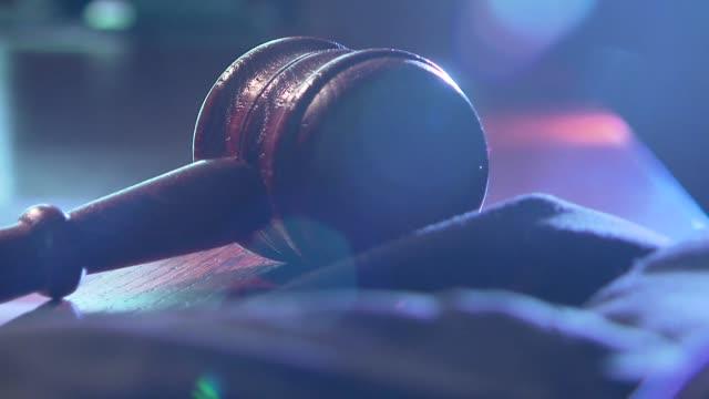 judge's gavel - hammer stock videos & royalty-free footage