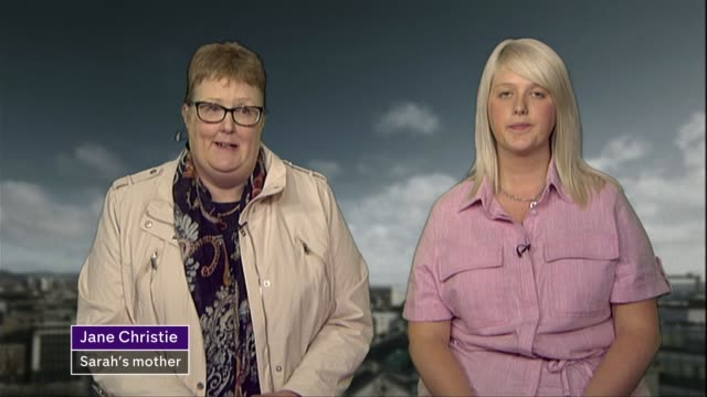 judges say stormont must decide on northern irish abortion rules northern ireland belfast int sarah ewart and jane christie interview sot - abortion stock videos and b-roll footage