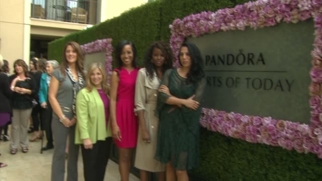 judges shaun robinson pepper schwartz andrea alvey penny abeywardena and june sarpong at pandora hearts of today honoree luncheon at montage beverly... - montage beverly hills stock videos & royalty-free footage