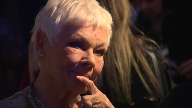 judi dench at old billingsgate on december 02, 2018 in london, england. - ジュディ・デンチ点の映像素材/bロール