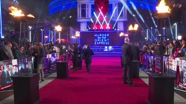 Judi Dench Johnny Depp and Penelope Cruz are among the star studded ensemble cast on the red carpet for the world premiere of Murder on the Orient...