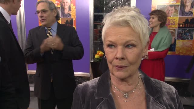 judi dench on shooting in india how it was an assault to the senses what she loved about it at the best exotic marigold hotel new york premiere... - participant stock videos and b-roll footage