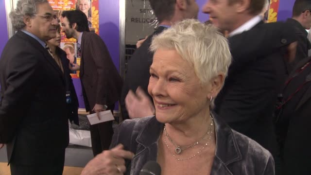 Judi Dench on still getting butterflies on not liking to watching her work not even seeing some of her movies at The Best Exotic Marigold Hotel New...