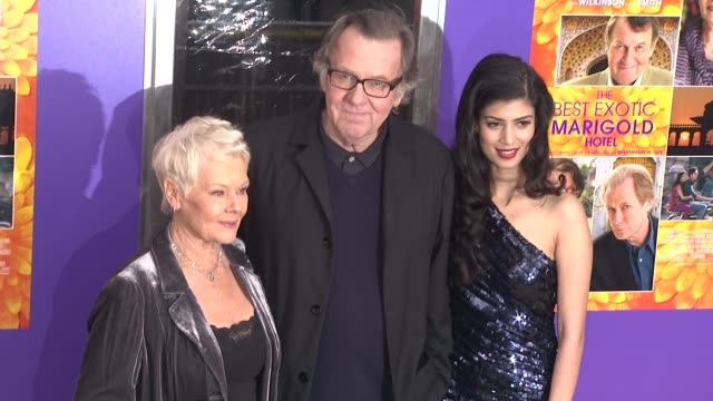 Judi Dench Tom Wilkinson and Tena Desae at The Best Exotic Marigold Hotel New York Premiere Presented By Fox Searchlight Pictures And Participant...