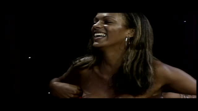 judi shekoni talks to james whale about acting james bond and being fake pregnant - james whale stock-videos und b-roll-filmmaterial