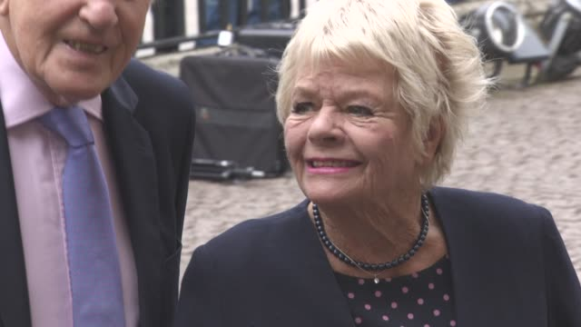 judith chalmers at a service of thanksgiving for the life and work of sir terry wogan at westminster abbey on september 27, 2016 in london, england. - terry wogan stock-videos und b-roll-filmmaterial